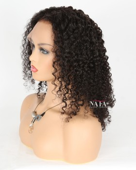 Medium Length Middle Part Curly Wigs Shoulder Length Curly Lace Front Wig