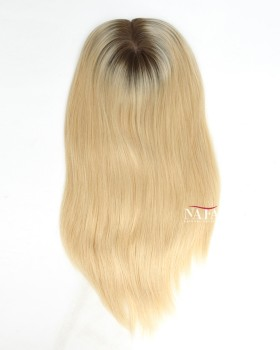 16-inch-blonde-human-hair-topper-for-women