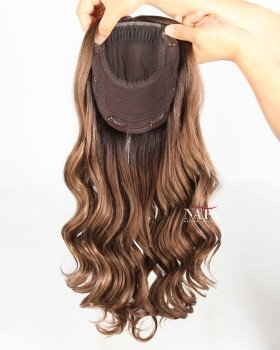 ombre-human-hair-crown-topper-for-womens-hair-loss