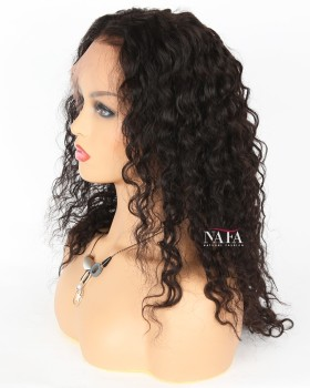 Cheap Natural Curly Lace Front Wigs Indian Remy Hair Natural Color