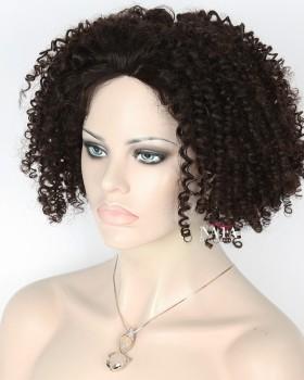 Unique 150 Density Spiral Curl Wig Silk Top Glueless Wig