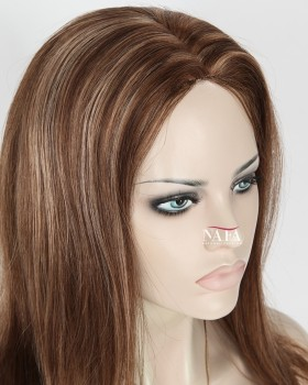 Nafawigs Dark Brown Hair With Caramel Highlights European Hair Wig