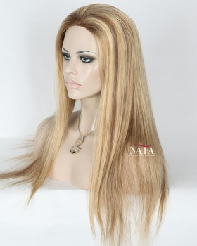 Unique Design Blonde Ombre Lace Wig Silk Base Transparent Lace color