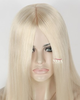 "Nafawigs 16"" to 20"" Platinum Blonde Straight Lace Front Wigs"