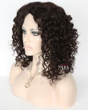 Unique Style Of Loose Spiral Curl  Light Brown Lace Wig