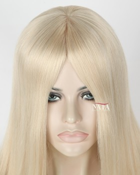 Nafawigs Long Platinum Blonde Human Hair Wigs White Blonde Lace Front Wig