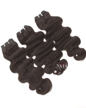Indian Remy Human Hair Body Wave Weft Color 1B 3Bundles