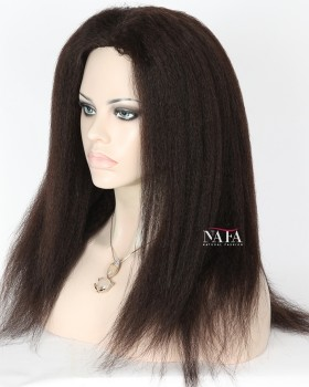 Astonishing Afro Kinki Human Hair Lace Wigs For Black Women