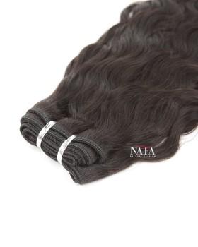 Nafawigs Indian Hair Natural Wave Weave 3 Bundles