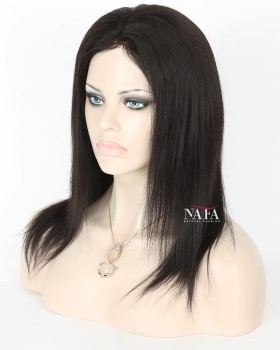 Yaki Perm Full Lace Human Hair Wig