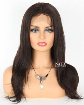 Virgin Malaysian Straight Human Hair Wig Silk Base Top