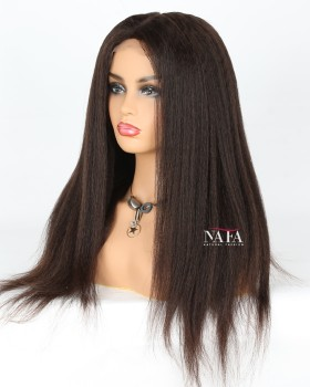 Unique Style Italian Yaki Silk Top Full Lace Wig