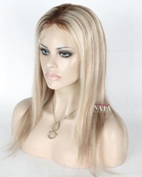 Amazing Silk Base White Ombre Wigs For White Women