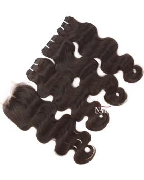 Body Wave Weave 3 Bundles With 4x4 Lace Closure