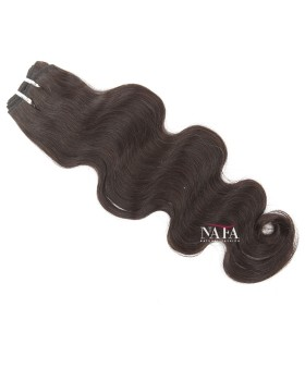 Short Natural Afro Black Hair Body Wave Natural Color