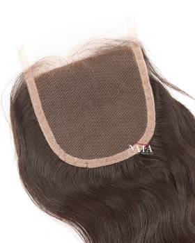 Real Human Hair Straight Brazilian Lace Closure 4x4