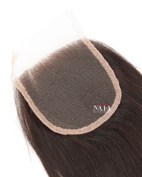 Cheap Remy Hair Yaki Straight Lace Closure 4x4