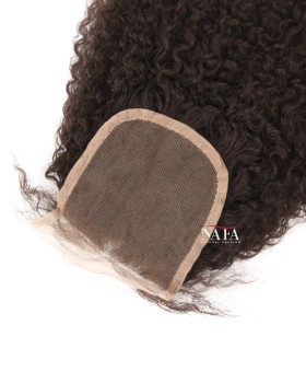 Medium Brown  Brazilian Jerry Curl  Lace Closure