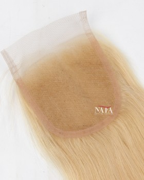 Mini Blonde Hair Topper For Thinning Hair Crown