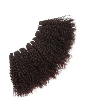 Afro Jerry Curl Natural Human Hair Natural Color 3 Bundles