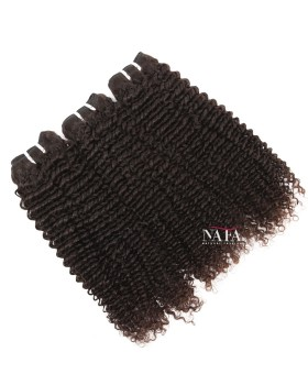 Virgin Brazilian Kinky Black Curly Hair Weave Natural Color