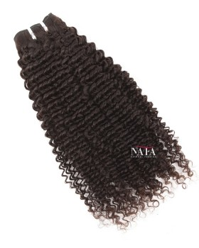 Virgin Brazilian Natural Color Kinky Hair Curly Weaves