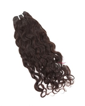 Short Medium Wavy Hair Virgin Indian Hair Natural Color