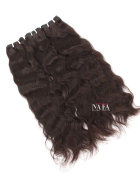 Cheap Human Hair Bundles Natural Wave Indian Remy Natural Color 3 Bundles