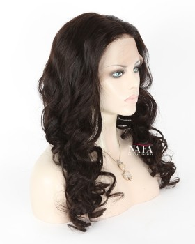 Sexy Black 180 Density Human Hair Full Lace Wig