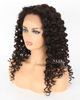 Long Brazilian Hair 24 Inch Wig Length Curly Wig 180 Density Lace Front Wig