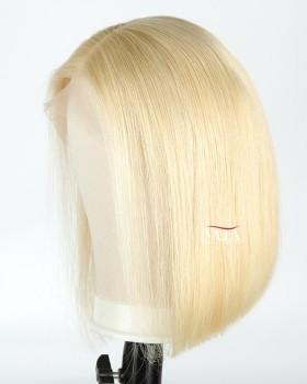 Cheap Lace Front  613 Bob Cut Wig For Women