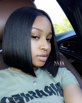 10 Inch Human Hair Bob Wig Short Black Bob Wig On Sale