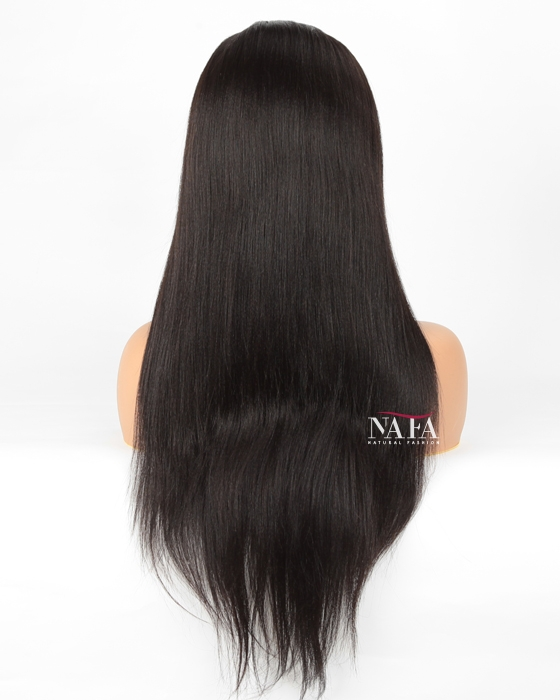 yaki straight wig back
