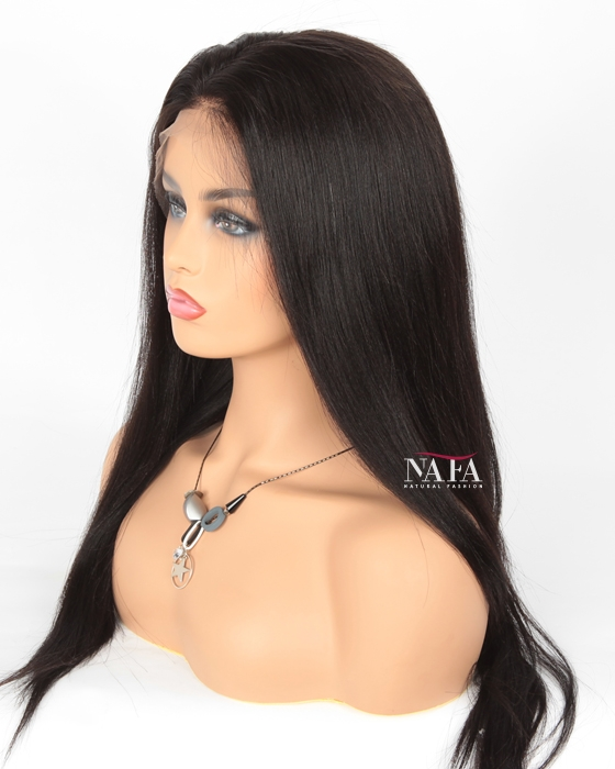yaki straight human hair wig